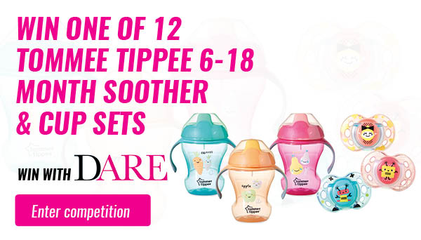 Win one of 12 Tommee Tippee 6-18 month Soother & Cup Sets